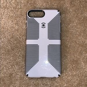Black and white iPhone 7 and 8 Plus speck case